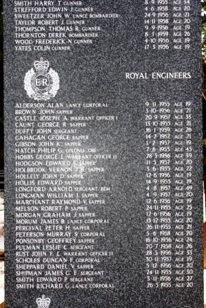 Geoffrey's name on The British Cyprus Memorial