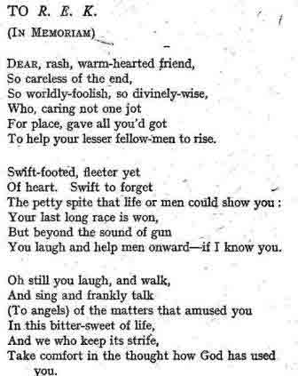 Poem by F. Will Harvey