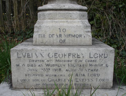 Geoffrey Lord's Grave Inscription
