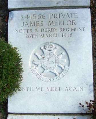 Private Mellor's Grave in Boulogne